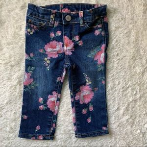 BABY GAP   Floral Print Stretchy Jeans